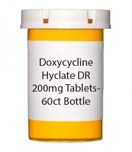 Doxycycline Hyclate DR 200mg Tablets- 60ct Bottle