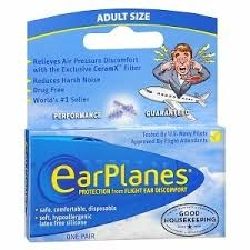 Earplanes Adult Ear Plug - 1pr
