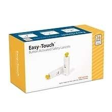 EasyTouch® Button Activated Safety Lancets, 26 Gauge, 1.8 mm - 100ct