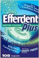 Efferdent Plus Denture Cleanser Minty Fresh - 108 Tablets