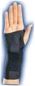 Elastic Stabilizing Left Wrist Brace (Black) - Small