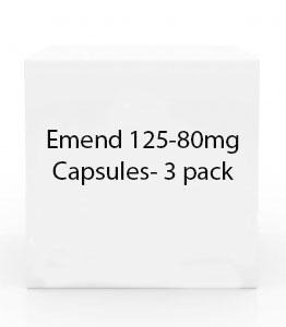 Emend 125-80mg Capsules- 3 pack