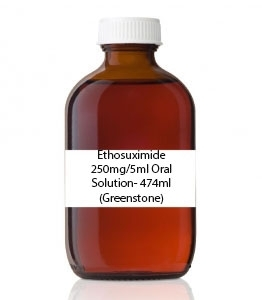 Ethosuximide 250mg/5ml Oral Solution- 474ml (Greenstone)