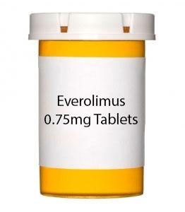 Everolimus 0.75mg Tablets
