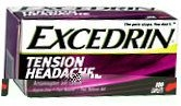 Excedrin Tension Headache Caplet Aspirin Free 100ct-LONG TERM UNAVAILABLE FROM MFG