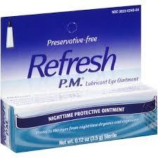 Refresh PM Lubricant Eye Ointment - 0.12 oz tube