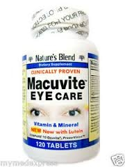 Natures Blend Macuvite Eye Care Tablets 120