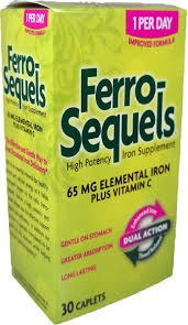 Ferro-Sequels High Potency Iron Supplement 65 mg Caplets - 30ct