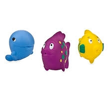 Nuby Fun Fish Bath Squirters- 3pk ** Extended Lead Time **
