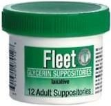 Fleet Glycerin Suppository Adult 12ct