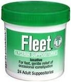 Fleet Glycerin Suppository Adult  24ct