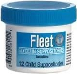 Fleet Glycerin Suppository Child 12