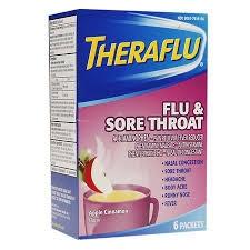 TheraFlu Flu & Sore Throat Powder Apple Cinnamon - 6ct