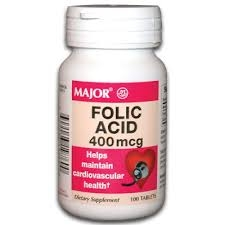 Major Folic Acid 400mcg Tablets - 100ct
