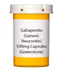 Gabapentin (Generic Neurontin) 100mg Capsules (Greenstone)