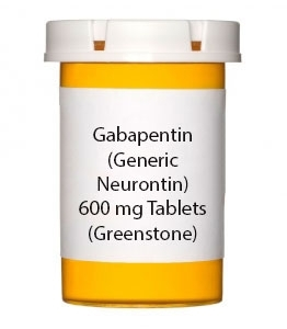 Gabapentin (Generic Neurontin) 600 mg Tablets (Greenstone)