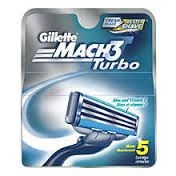 Gillette Mach3 Turbo Razor Blades - 5 Cartridges