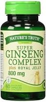 Nature's Truth Super Ginseng Complex Plus Royal Jelly 800mg Capsules - 60ct