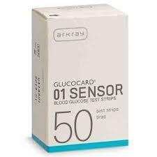 Glucocard 01 Sensor Test Strips- 50ct (1-3 Units)