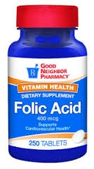 GNP Folic Acid 400mcg Tablets - 250ct