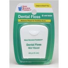Good Neighbor Pharmacy Mint Waxed Dental Floss, 100 yards- 6pk