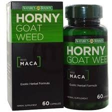 Nature S Bounty Horny Goat Weed With Maca Herbal Supplement Capsules 60ct