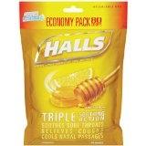 Halls Honey Lemon Cough Drops- 80ct