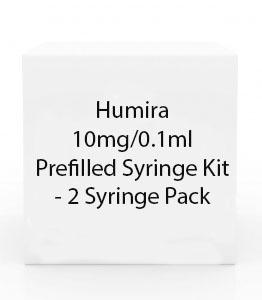 Humira 10mg/0.1ml Prefilled Syringe Kit - 2 Syringe Pack