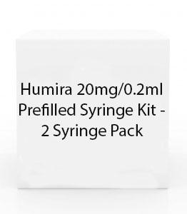 Humira 20mg/0.2ml Prefilled Syringe Kit - 2 Syringe Pack
