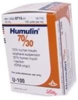Humulin 70/30, 100 units/mL - 10 mL Vial