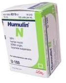 Humulin N, 100 units/mL - 10 mL Vial