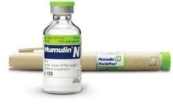 Humulin N, Insulin KwikPen 100units/ml,  3ml Pen- Box of 5 Pens