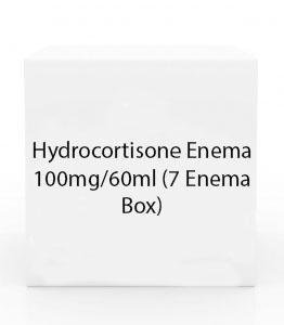 Hydrocortisone Enema 100mg/60ml (7 Enema Box)