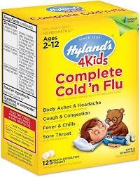 Hyland's 4Kids Complete Cold n Flu Quick Dissolve Tablets - 125ct