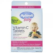 Hyland S Baby Vitamin C 25mg Quick Dissolve Tablets Lemon