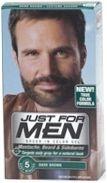 Just For Men Brush-In Moustache Beard & Sideburns Dark Brown Gel 1oz