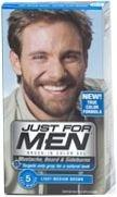 Just For Men Brush-In Moustache Beard & Sideburns Light/Medium Brown Gel