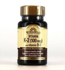 Windmill Vitamin K2 with Vitamin D3 100mg-1000U Tablets - 60ct