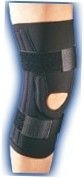 Knee Brace Stabilized Prostyle Black Small-Bell Horn