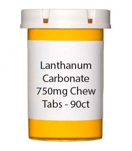 Lanthanum Carbonate 750mg Chew Tabs - 90ct
