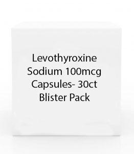 Levothyroxine Sodium 100mcg Capsules- 30ct Blister Pack