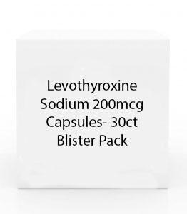 Levothyroxine Sodium 200mcg Capsules- 30ct Blister Pack