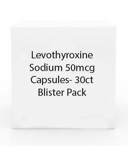 Levothyroxine Sodium 50mcg Capsules- 30ct Blister Pack