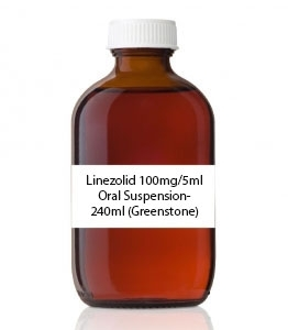 Linezolid 100mg/5ml Oral Suspension- 240ml (Greenstone)