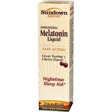 Sundown Naturals Sublingual Melatonin Liquid- 2oz