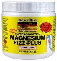 Nature's Blend Magnesium Fizz+Powder Lemon/Lime - 6.4 oz (30 servings)