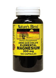 Nature's Blend Elemental Magnesium Dietary Supplement 300mg- 100ct