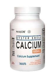 Major Oyster Shell Calcium 500mg Tablet - 1000ct