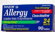 Major Non-Drowsy Allergy 10mg Tablets- 90ct