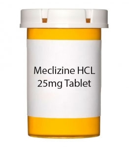Meclizine HCL 25mg Tablet